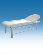 Метална масажна кушетка с етажерка, 1/3 чупеща се - 2204/ВБ-3376А