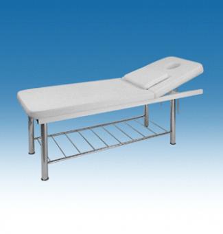 Метална масажна кушетка с етажерка, 1/3 чупеща се - 2202/WB-3376A