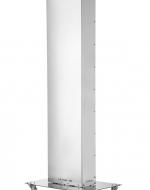 UV-C бактерицидна лампа за дезинфекция на въздух в присъствието на хора AIR FLOW UV STERIL 500. На масивна метална основа на колела.
